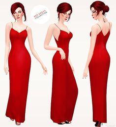 Sims 2 red dress uk