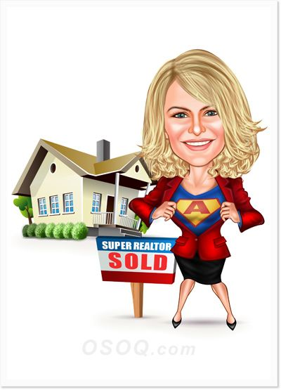 female house realtor caricatures house agent caricature pinterest caricatures hand drawings and house