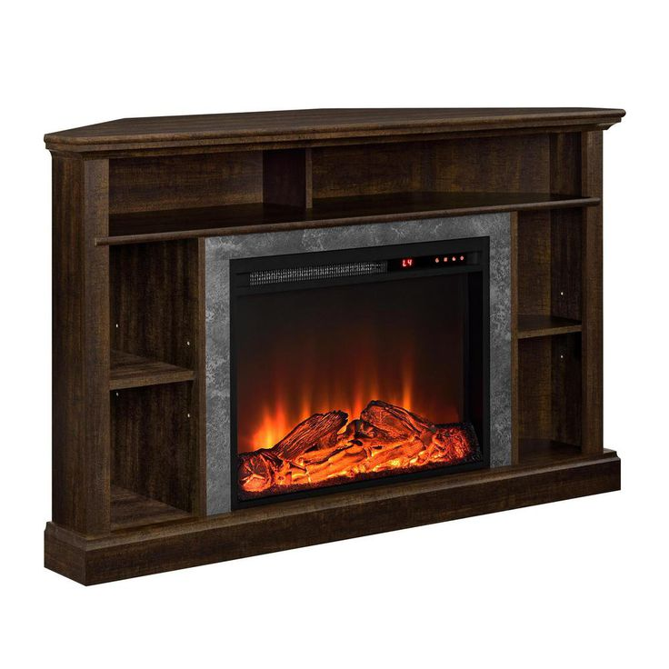Ameriwood Home Rio Electric Corner Fireplace For Tvs Up To 50 Inches Reviews Furniture Macy S In 2019 Electric Fireplace Tv Stand Fireplace Tv Stand Corner Fireplace Tv Stand