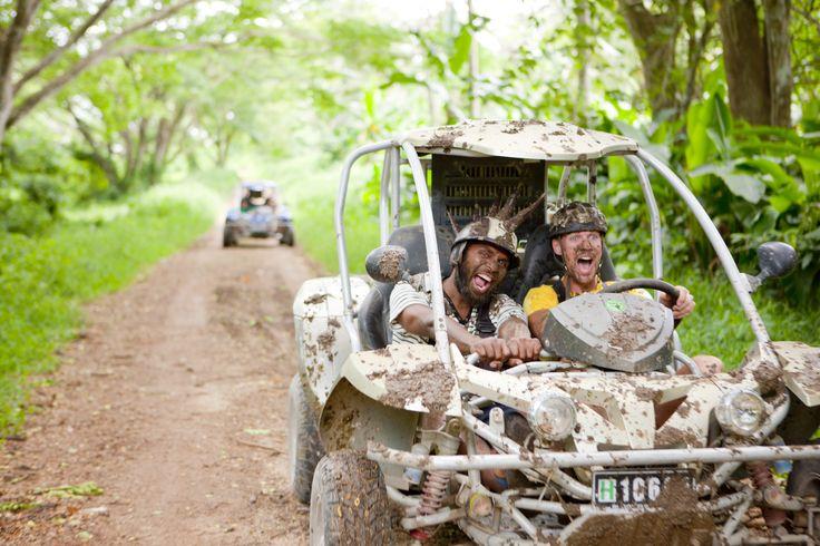 Mud-splash buggy ride