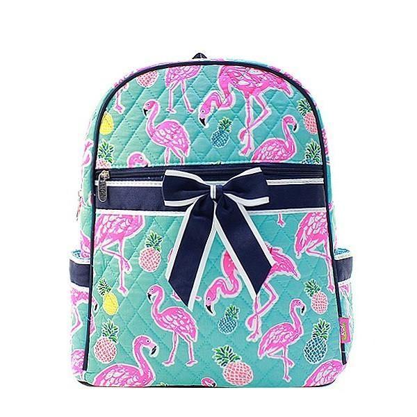 "15"" Quilted Backpack Bookbag Kids School Tote"