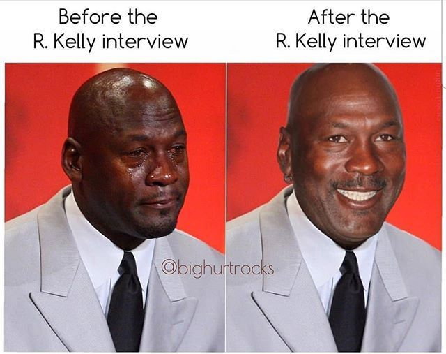 Bighurtrocks Drop The Mic But I Don T Think Crying R Kelly Has Staying Power Cryingjordanface Cryingjordan Jordan Meme Kelly Crying