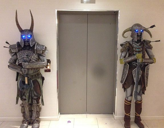 This cosplay tutorial covers our Skyrim Draugr Deathlord costumes and Ancient Nord Weapons. The armor was made form EVA Foam floor mats...