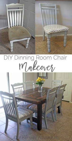 DIY Dinning Room Chair Makeover - Our Kerrazy AdventureBloglovinEmailFacebookInstagramPinterestTwitter