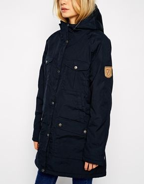 Enlarge Fjallraven Hooded Parka Coat With Shearling Lining