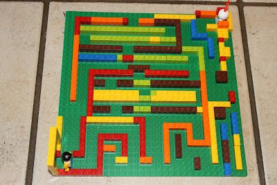 """LEGO Quests. This site has tons of challenges for the kids to make with legos... like this one """"Create a Maze""""."""