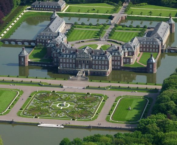 Schloss Nordkirchen is located in Westphalia, Germany, and was built in 1703 to 1734.