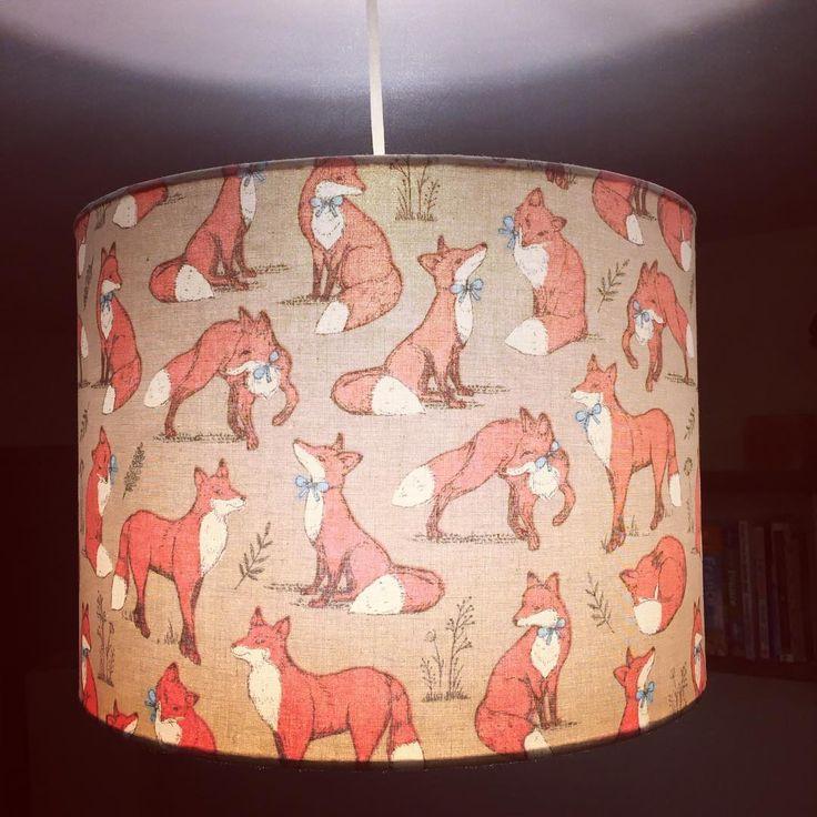 Cute RUKU fox lampshade! Total *swoon*! www.etsy.com/uk/shop/rukulampshades