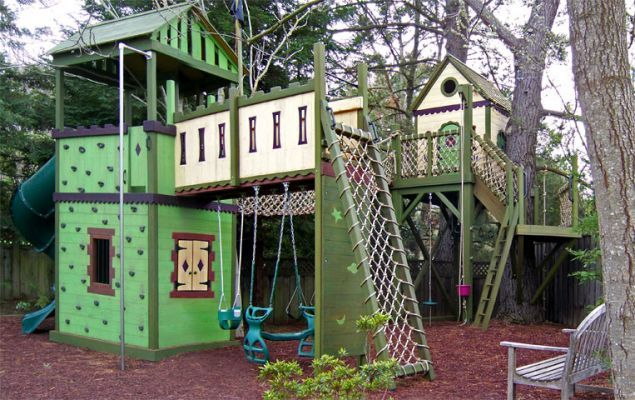 TreehouseBarbara Butler Treehouse Tre, Butler Treehouse Tre House, For Kids, Playhouses Playstructure, Kids Treehouse, Plays Structures, Plays Kitchens, Cubbies House, Trees House Plans