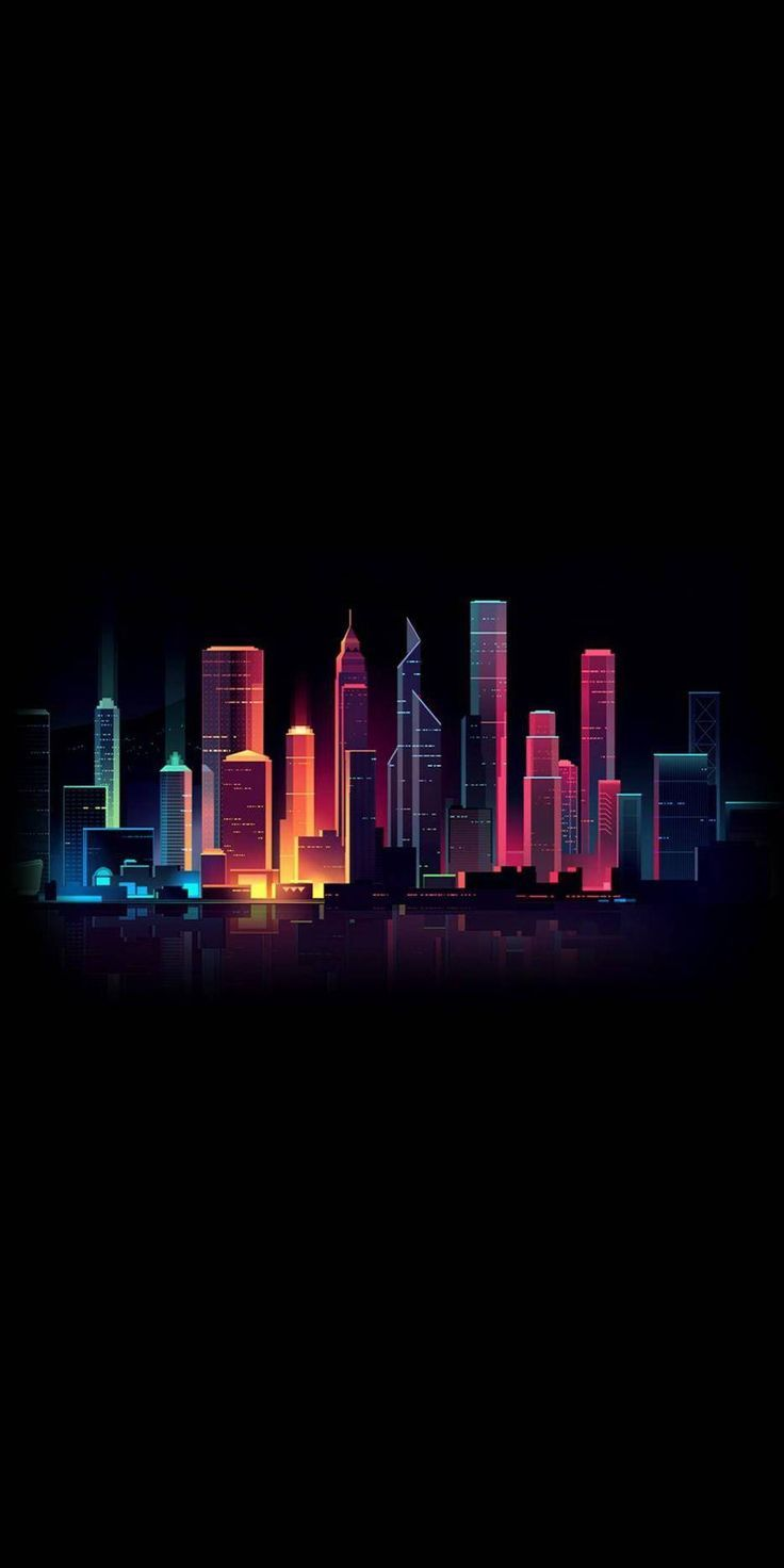 Amoled Dark City iPhone Wallpaper Check more at iphoneswallpapers