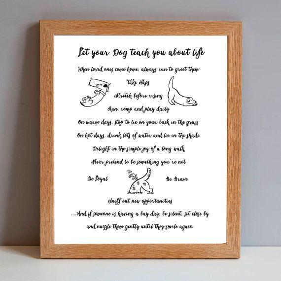 Dog Gift Print - Dog Rules of Life - Dog Lovers Birthday Gift Print