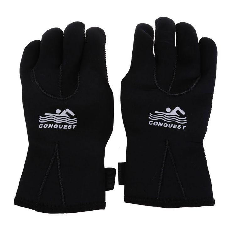 New Hot Selling Outdoor Dive Gloves Winter Diving Gloves Swimming Hand Wear Antiskid SCR Neoprene Wearproof Black