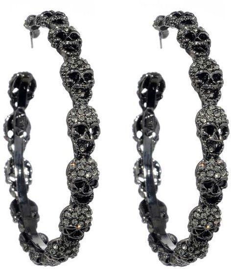 ☆ Amrita Singh Skull Hoop Earrings ☆