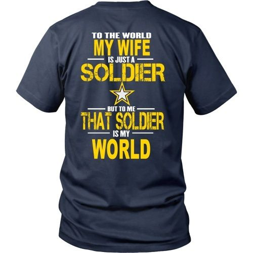 Army-To the world my wife is a soldier - Back