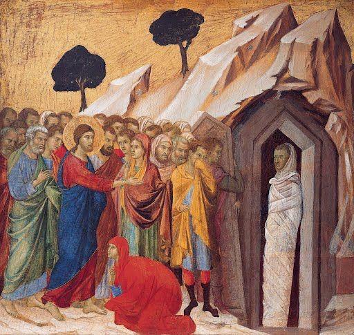The Raising of Lazarus Duccio di Buoninsegna 1310–11