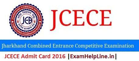JCECE Admit Card 2016