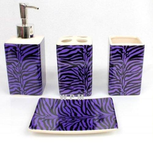 17 best images about yak pak printspiration purple zebra for Zebra bathroom decor