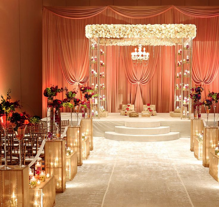 17 best ideas about wedding stage on pinterest for Artificial flower decoration mandap