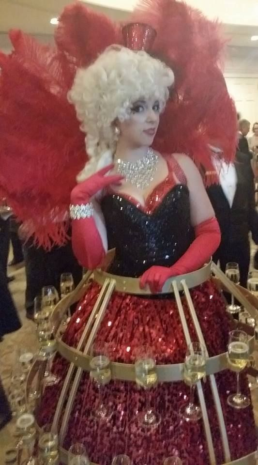 Gorgeous Marie Moulin Black and Red Diva