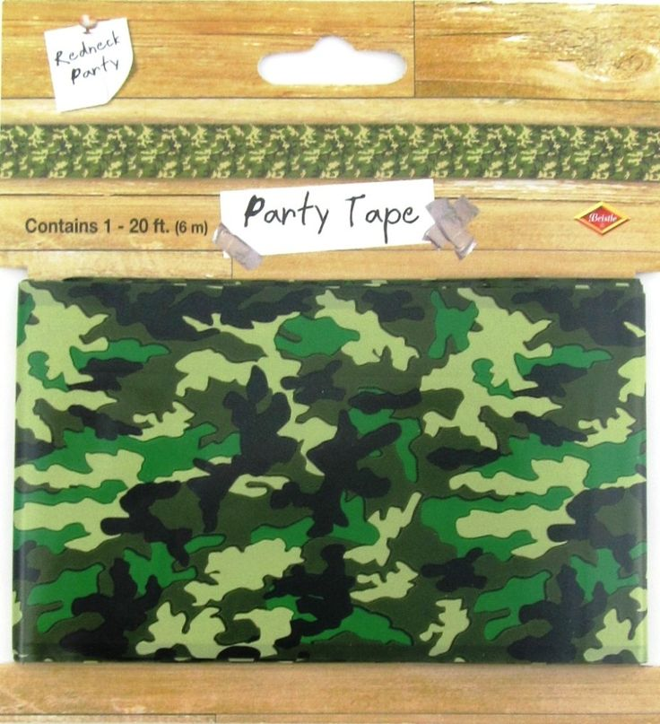 free printable camouflage birthday party invitations%0A Army Camouflage Green Plastic Party Tape Banner