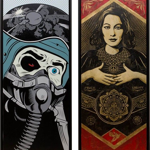 2014 cacmalaga  D*FACE  Shepard Fairey  original  highart-gallery.com  #cacmalaga #dface #shepardfairey #obeygiant #commissionwork #original #gallery21