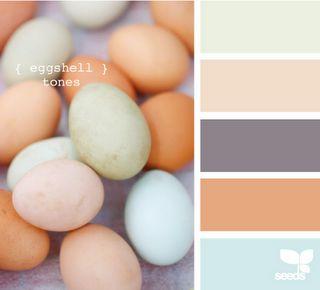 {Eggshell Tones}  Color palette for cube decorations?