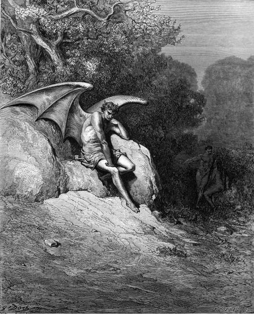 Gustave Doré - Satan in Eden, 1866.