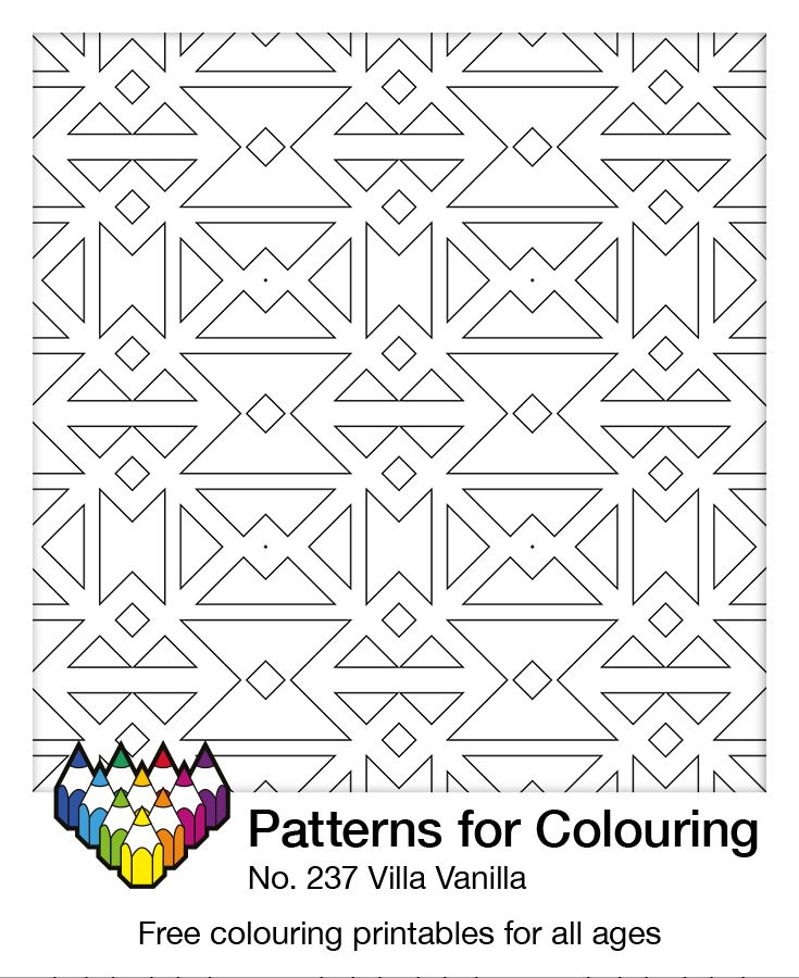 I'm delivering a new rug to Villa Vanilla. Do you think you could add a spot of colour first? Free colouring printable