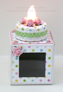 My Stamping Creations: Belated Birthdays and Blogaversary!: Lights Cake, Birthdays, Teas Lights, Cards Papercraft, Stamps Creations, Paper Crafts, Birthday Cake, Tea Lights, Belated Birthday