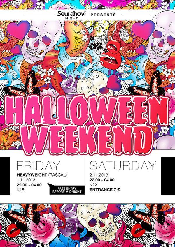 Halloween Weekend, Posters by Ville Palmu, via Behance