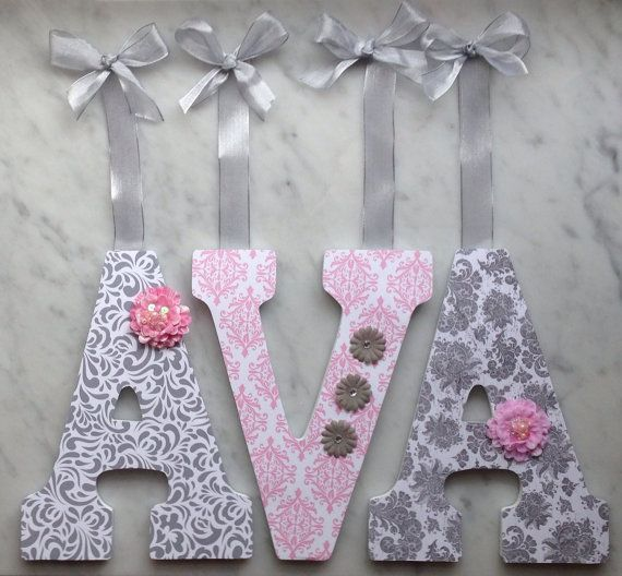 letters for nursery custom wall letters nursery letters hanging wall letters grey