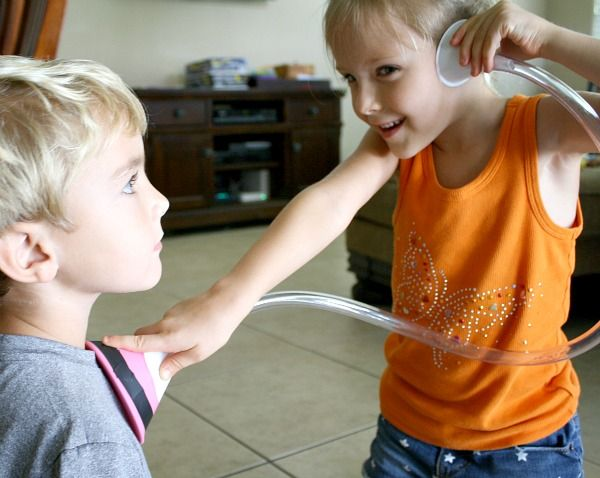 Stethoscope for Kids-Play and Science Activity -- looks so simple and fun!