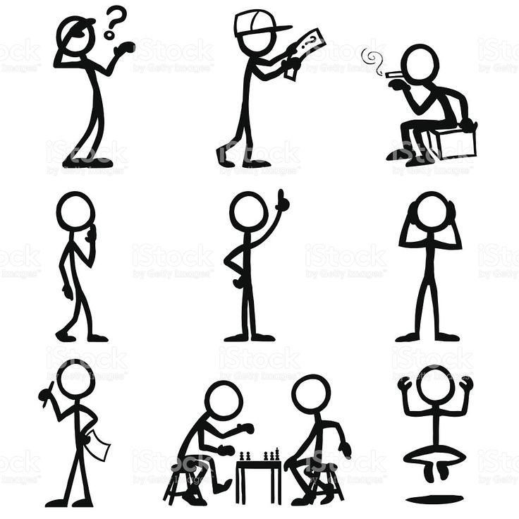 Line Art Figures : Best stick figures images on pinterest