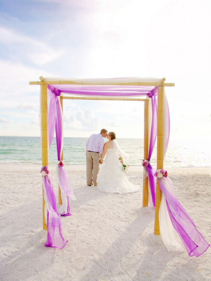 Florida Beach Wedding Package Including A Front Reception Includes Photographer Luau Show