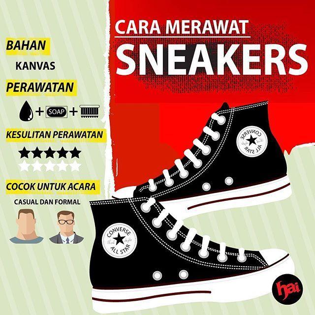 Ngerawat sepatu kesayangan nggak bisa asal, guy. Mirip kayak pacar, sepatu juga perlu diperlakukan secara istimewa.  Nah, biar hubungan lo sama si sepatu awet, simak infografis ini, deh. Atau ke www.hai-online.com untuk liat versi lengkapnya... Desain: @erickocandra Teks: @agassimoriand  #sneakers #sneakershead #converse #conversehead #canvas #infographic #infografis #hai #haimagazine #majalahhai #sebulansekali #youthexploration