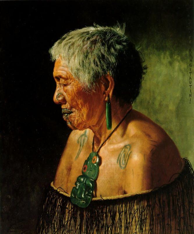 Ahinata Te Rangitautini Tuhourangi Tribe by Charles Goldie, Oil on canvas