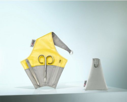 Nagelpflege-Etui von Rubis Switzerland mit Pinzette, Nagelschere und sanfter Glasnagelfeile