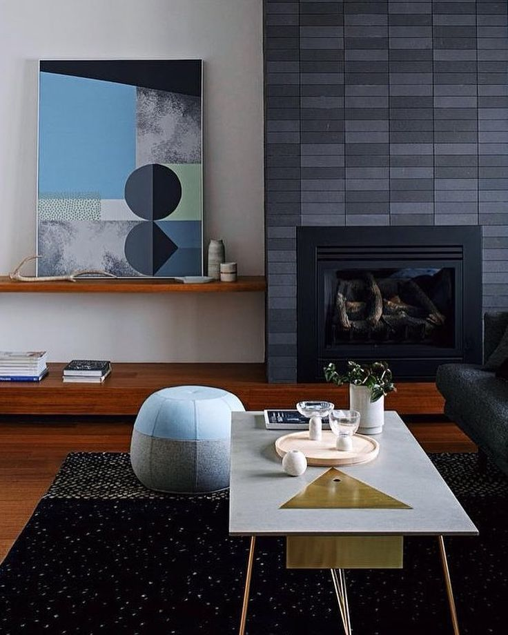 Project by Luke Fry featuring our Roy coffee table and Puku ottoman. Image: Mark Forbes. Styling: Bek Sheppard