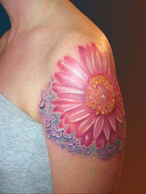 6 Flower Friendship Tattoos: Tattoo Ideas, Beautiful Tattoos, Pink Flowers, Pink Flower Tattoos, Color Flower, Tattoo Inspiration, Big Pink, Friendship Tattoos, Desirable Tattoos