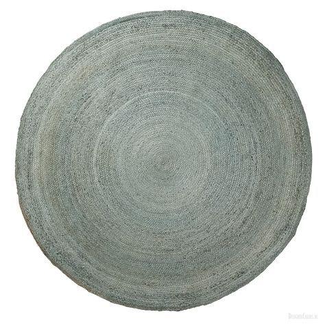 Carpet Dip - rond 200 cm | Blauw juten | Laforma-Kave Stoer rond vloerkleed in het blauw. Het vloerkleed is gemaakt van juten en heeft een doorsnede van 200 cm. Perfect voor in de woon -of slaapkamer! Beste direct online!