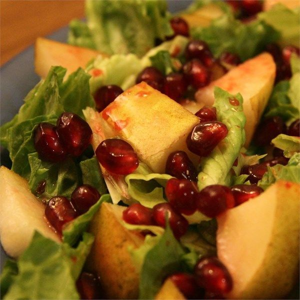 ... pomegranate and pears, sour from the lemon, and a little spice from