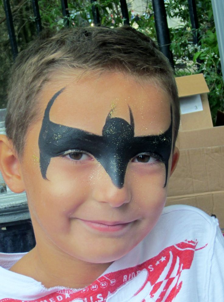 Bat Man Face Painting By Hearts Nyc