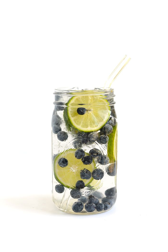 Blueberry-Lime Infused Water - Get in your daily water quota with this Fruit-Infused Water - 6 ways! From berries, to citrus, to cucumber and herbs, we've got you covered for refreshing drink recipes all summer long!