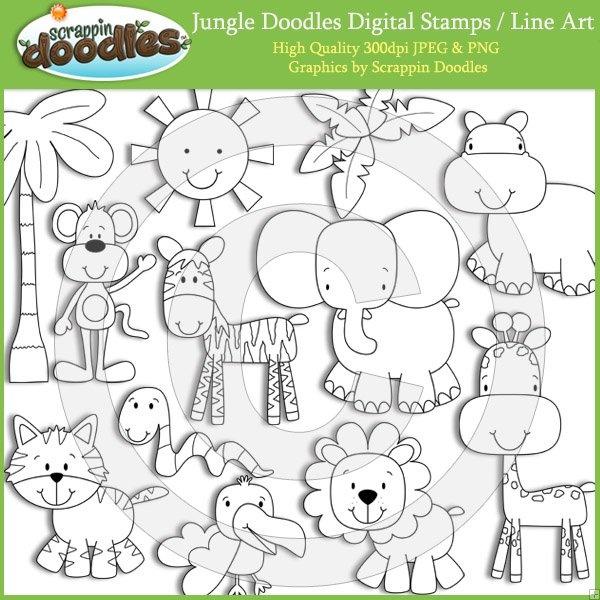 Line Art Jungle Animals : Best images about bichinhos da floresta on pinterest
