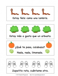 Printable Spanish Cards – Rhyming Words from Spanish Playground » Spanish Playground