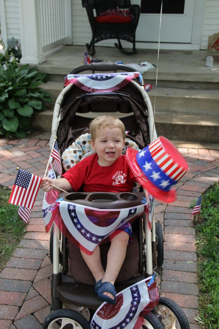 4th of july stroller decoration ideas