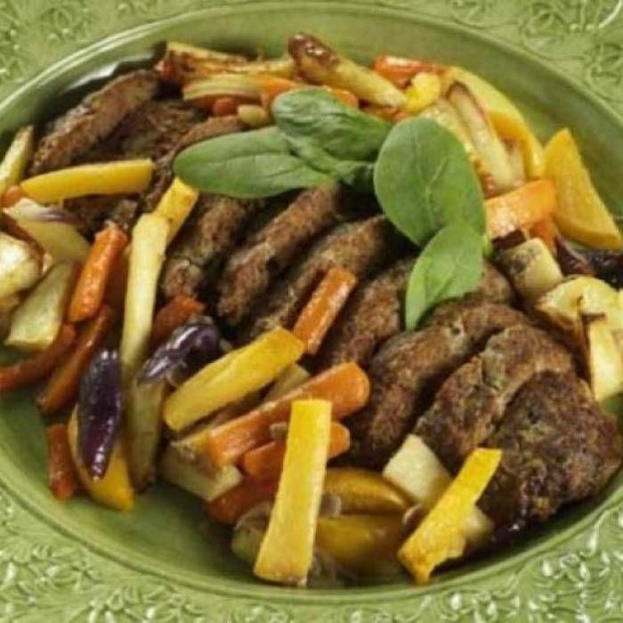 Köttfärslimpa och rotfrukter – recept