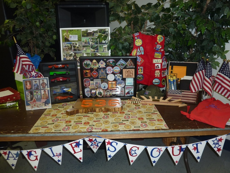 Display table 1: Eagles Ceremony Display Tables, Scouts Eagles Court, Scouts Eagles Scouts, Eagles Idea, Boys Scouts Eagles, Eagle Scouts