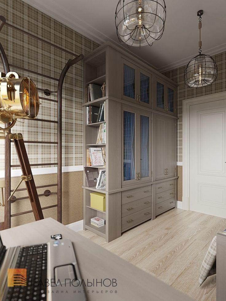 Дизайн детской комнаты для мальчика с удобным шкафом