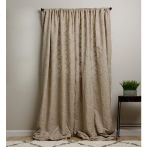Khaki Chevron Shower Curtain